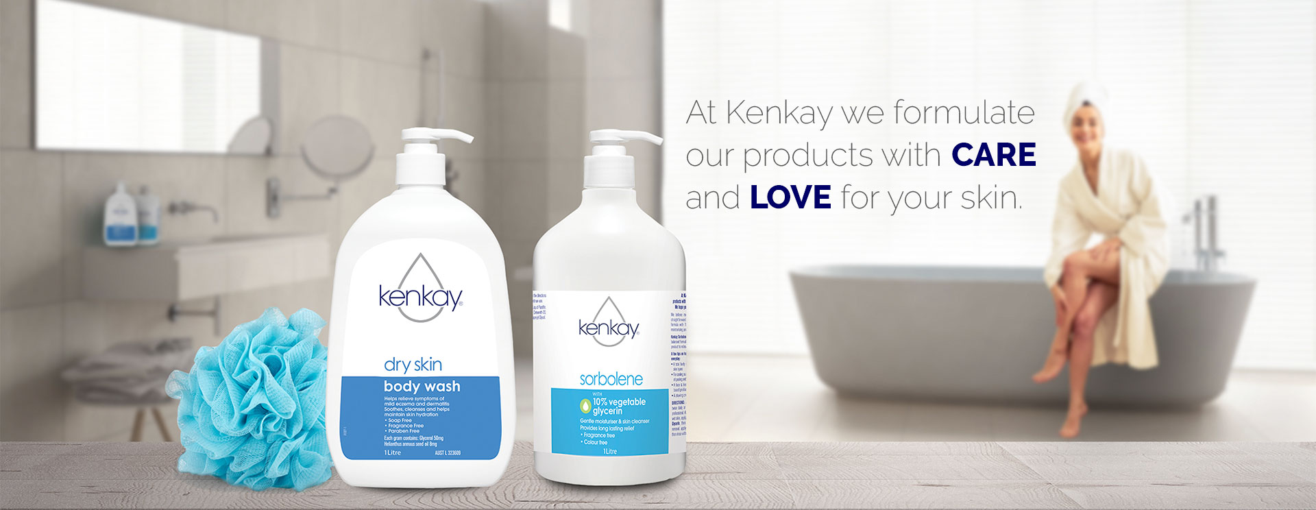 <h1>At Kenkay we formulate our products with <strong>CARE </strong>and <strong>LOVE</strong> for your skin.</h1>